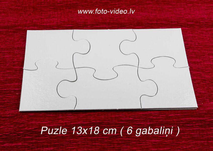 Foto puzle 13x18cm ar 6 gabaliņiem