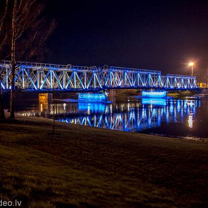 Dzelzceļa tilts pār Lielupi. Jelgava.