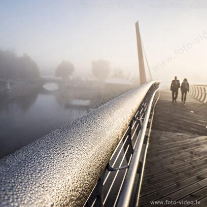 """Jelgava. Gājēju tilts """"Mītava"""""""
